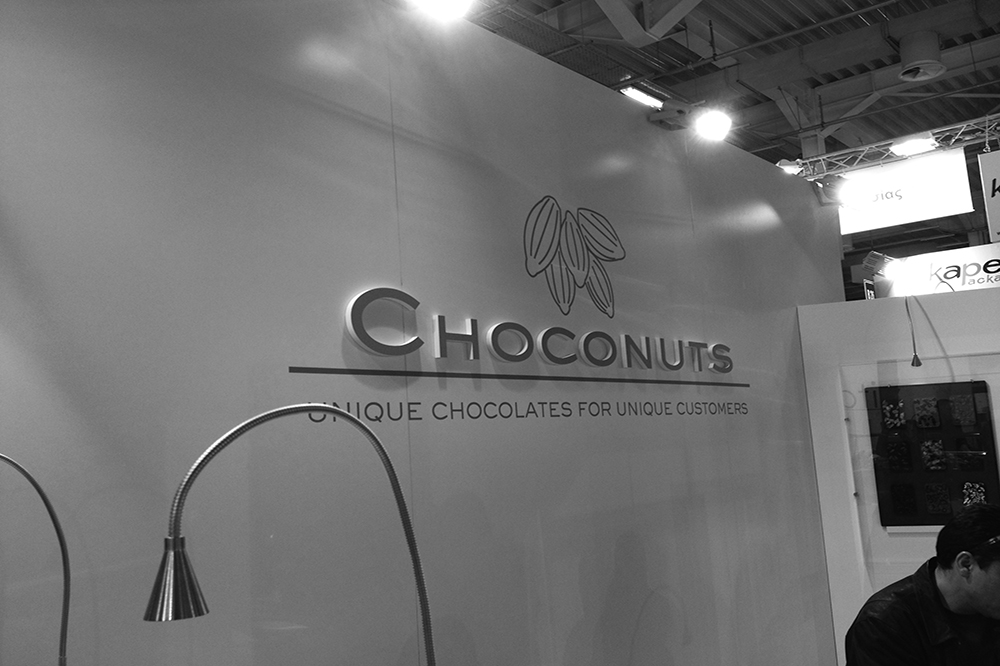 Choconuts exhibition sign