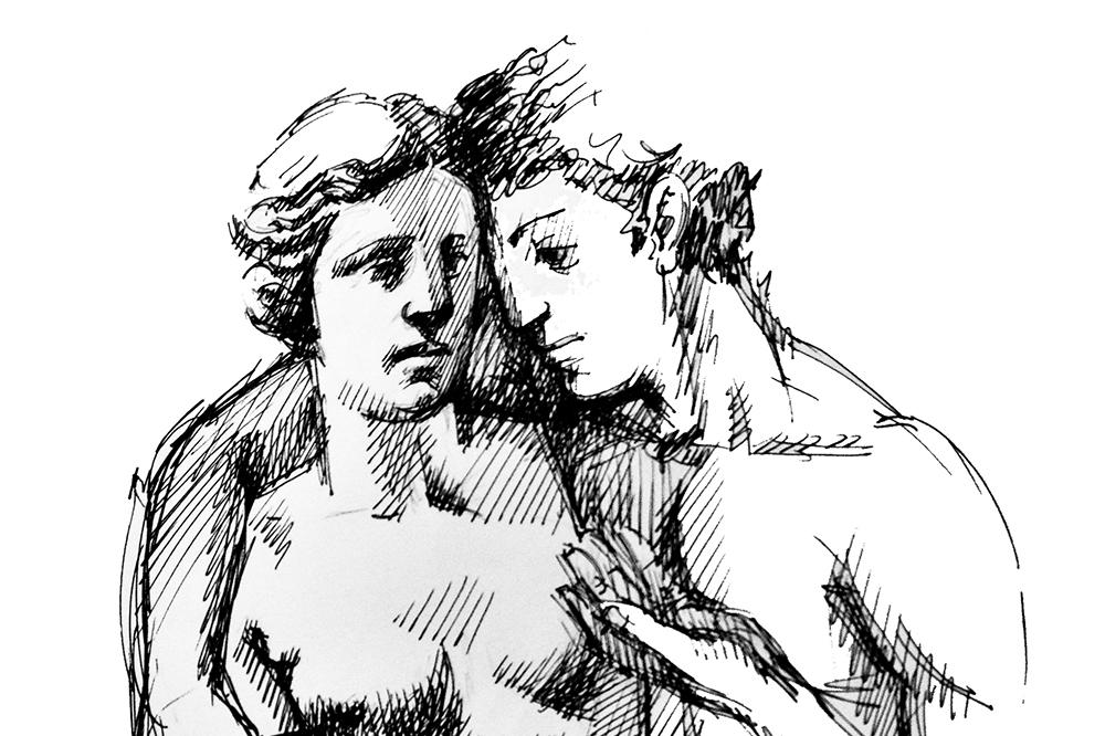 Fleur De Poeme sketch by M. Radeva